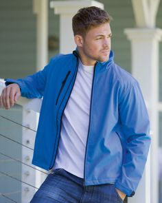 Russell Collection Mens Softshell Jacket Full Zip Breathable Coats Jackets UK