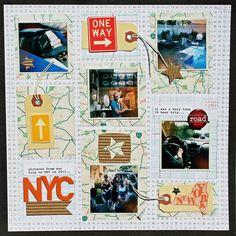 sei lifestyle: NYC Road Trip Scrapbook Layout