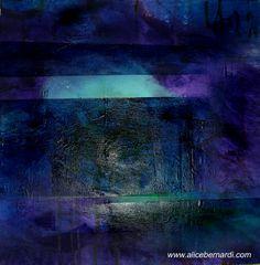 """Purple Light"" acrylic on canvas 40x40cm www.alicebernardi.com"