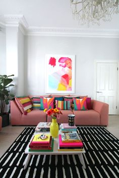 littleBIGBELL Bold living room interior ideas with Arcade from A by Amara for all seasons Decor, Room Colors, Colour Pop Interior, Bold Living Room, Interior, Living Decor, Colorful Interiors, Room Decor, Room Interior