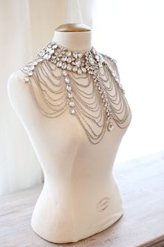 Rhinestone body jewellery at Vintage Raven 'The Bridal House' Chesterfield, Derbyshire.