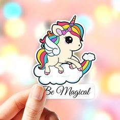 Luggage Stickers, Laptop Stickers, Vinyl Sticker Paper, Unicorn Stickers, Macbook Decal, Cute Unicorn, Brighten Your Day, Creative Art, How To Draw Hands