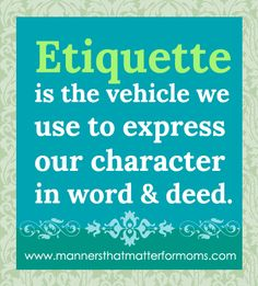 Manners That Matter For Moms By Author Maralee McKee www.mtmformoms.com