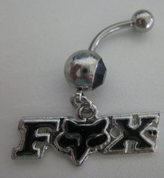 Fox belly button ring! I want this one!!! :)