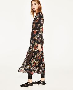 Image 4 of LONG DRESS WITH FLORAL PRINT from Zara