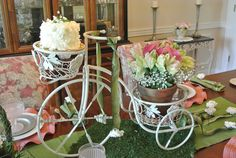 Jenna~ LOVE the tricycle as a centerpiece for your Mother's Day table! Description from thepaintedapron.com. I searched for this on bing.com/images