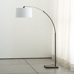 Dexter Arc Floor Lamp with White Shade |