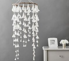 White Lilly Paper Ceiling Mobile #pbkids