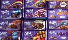 I love milka♥ Chocolate Milka, Cadbury Chocolate, Chocolate Brands, Chocolate Sweets, Love Chocolate, Chocolate Coffee, Chocolate Lovers, Oreo, Cute Snacks