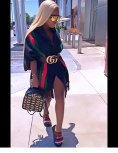 ollow for poppin looks ✨. Gucci Outfits, Dope Outfits, Stylish Outfits, Girl Outfits, Fashion Outfits, Swag Fashion, Fashion Pants, Fashion Killa, Look Fashion
