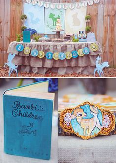 Rustic & Vintage Bambi birthday party