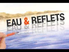 Peindre un ciel breton par Alain Meyer 2015 Watercolor Wave, Arches Watercolor Paper, Watercolor Animals, Cloud Tutorial, Gouache Tutorial, Guache, Water Reflections, Flash Photography, Watercolour Tutorials