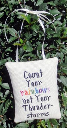 Rainbow Quote Cross Stitch  pattern chart