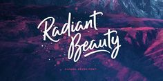 I wish i could learn hoew to write like this -Not a free fomt -Radiant Beauty, font by Ian Barnard. Radiant Beauty can be purchased as a desktop and a web font.