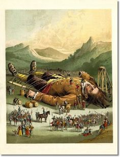 Childrens Illustrations - Childrens Prints - Gulliver 1880b Painting