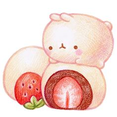 Cute Animal Drawings Kawaii, Cute Kawaii Animals, Cute Drawings, Kawaii Doodles, Cute Doodles, Kawaii Art, Molang, Dibujos Cute, Kawaii Wallpaper