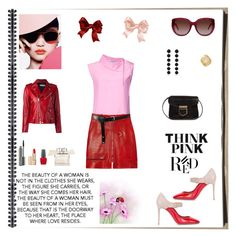 """Think Pink & Red"" by rboowybe ❤ liked on Polyvore featuring Tome, Isabel Marant, Valentino, ASOS, Yves Saint Laurent, Coach, Rebecca de Ravenel, MAC Cosmetics, Estée Lauder and OPI"