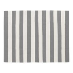 grey and cream striped rug from crate & barrel