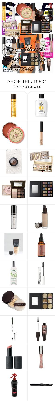 """""""Shay Mitchell Inspired Hair & Makeup"""" by oroartye-1 on Polyvore featuring beauty, Caudalíe, Olay, Anthropologie, NARS Cosmetics, NYX, TheBalm, Too Faced Cosmetics, Maybelline and Josie Maran"""