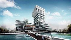 Tòa nhà Trung tâm văn hóa tập đoàn nhật báo Quảng Châu (Trung Quốc) do IAPA thiết kế có một kiến trúc xếp lớp đặc biệt, dựa trên ý tưởng về giấy và nghề in ấn - hai yếu tố tiêu biểu của văn hóa báo chí.