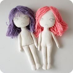 new cloth dolls i have been waiting for a good shot of gingermelon dolls sans clothes to see how they are contructed. Doll Clothes Patterns, Doll Patterns, Dolly Doll, Homemade Dolls, Art Drawings For Kids, Doll Tutorial, Little Doll, Sewing Toys, Soft Dolls