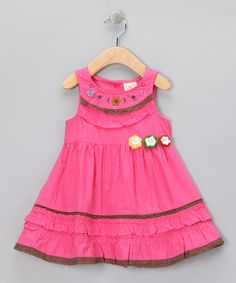 Take a look at this Hot Pink Butterfly Flower Dress - Infant, Toddler & Girls by the Silly Sissy on #zulily today!