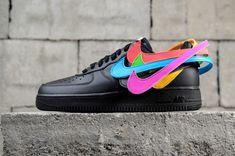 60814e52451 Nike Air Force 1 Velcro Swoosh Pack Black