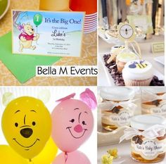 WINNIE THE POOH 1ST BIRTHDAY PARTY THEME baby-love