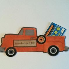 Father's Day card made with Cricut Nifty Fifties cartridge.