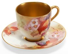 vintage 'Royal Worcester' English porcelain, tea cup and saucer, for tea at Rose cottages and gardens