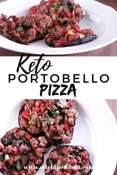 How could pizza toppings on top of a mushroom ever be considered or even be allowed to be called pizza? Portobello pizzas really make a killer pizza. Dairy Free Recipes, Paleo Recipes, Real Food Recipes, Gluten Free Dinner, Paleo Dinner, Paleo Pizza, Large Pizza, Food Articles, Lunch Recipes