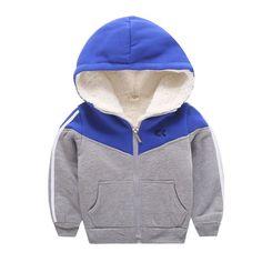 Boy Wool Coat Winter 2017 Children's Clothing Warm Hooded Knit Jacket Kids Clothing Coat Children's Clothes #Affiliate
