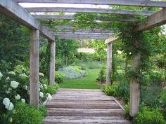 A backyard English Garden pathway