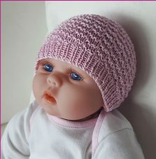 Baby's textured, seamless Beanie - Liberty Knitted Baby Beanies, Knitted Hats, Cardigan Pattern, S Girls, Slip Stitch, Crochet Yarn, Vintage Patterns, Baby Knitting, Doll Clothes