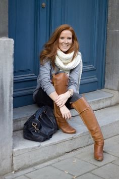 Beauties nude boot leather redhead tall