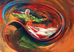 Sufi dance by the Egyptian painter Taher Abdel-Azim
