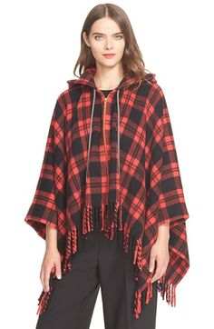 kate spade new york plaid poncho available at #Nordstrom