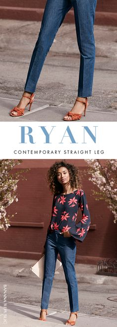 Searching for a universally flattering pant to go with your favorite printed blouse or sweater? Step into the Ryan pant this spring. Full-length with a slim-straight leg designed to elongate your legs and make you feel as good as you look. Shop now at Banana Republic.