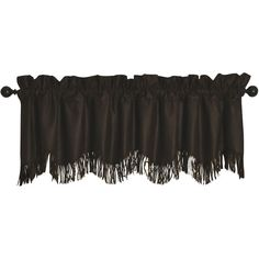 HiEnd Accents Barbwire Chocolate Valance (94 CAD) ❤ liked on Polyvore featuring home, home decor, window treatments, curtains, western curtains, embroidered window curtains, chocolate curtains and embroidery curtains