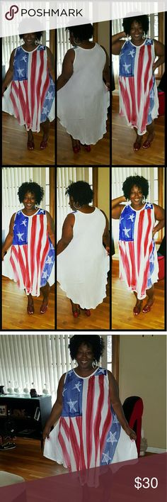 Red white and blue dress Beautiful red white and blue dress Dresses