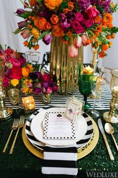 Wedding table settings black and white kate spade 17 Ideas Bridal Shower Tables, Elegant Bridal Shower, Bridal Shower Invitations, Birthday Invitations, Brunch Party Decorations, Bridal Shower Decorations, Table Decorations, Wedding Decorations, White Table Settings