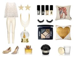 """""""Christmas"""" by katya-afonina on Polyvore featuring Kate Spade, The Row, Jimmy Choo, Burberry, JINsoon, Jennifer Meyer Jewelry, Lord & Taylor, Relaxfeel, White House Black Market and Christian Dior"""