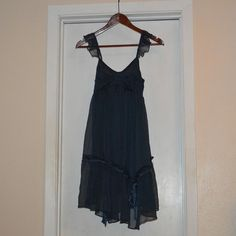 Cute navy blue swing dress!!! Size Small This dress is adorable with western boots!!!  Size Small Cecico Dresses High Low