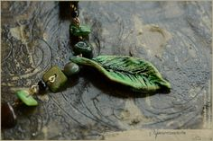 Leaf forest necklace green fairy Handmade by Vocisconnesse on etsy
