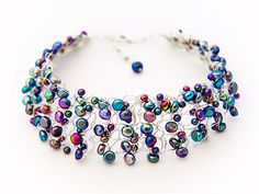knitted wire and bead jewellery