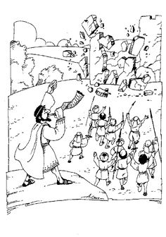 1000 images about the story of joshua on pinterest for Joshua fought the battle of jericho coloring page