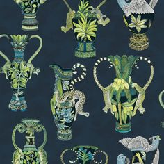 "Cole & Sons Khulu Vase 33' L x 27"" W Wallpaper Roll 