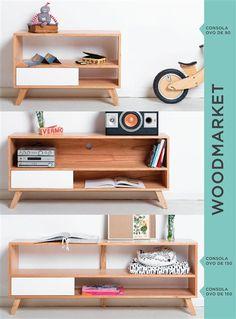 Wood Market Cute Furniture, Simple Furniture, Plywood Furniture, Repurposed Furniture, Modern Furniture, Furniture Design, Home Office Decor, Diy Home Decor, Room Decor