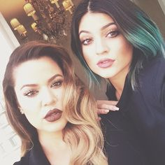 Khloe Kardashian and Kylie Jenner in pairs