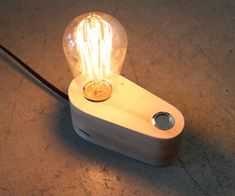 Edison Lamp in 3 Hours : 7 Steps (with Pictures) - Instructables Cool Lamps, Unique Lamps, Diy Lamps, Table Lamps, Shabby Chic Lamps, Edison Lamp, Bright Homes, Lamp Bulb, Lamp Design